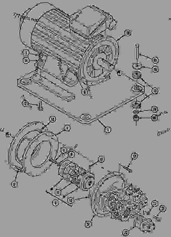 Parts scheme ENGINE MOUNTING 1288FGS (CGG-022614) - CRAWLER EXCAVATORS Case 1288FGS - CASE EXCAVATOR - LONG-DISTANCE HANDLING (1/94-12/02) 18 MISCELLANEOUS ENGINE MOUNTING 1288FGS (CGG-022614) | 777parts