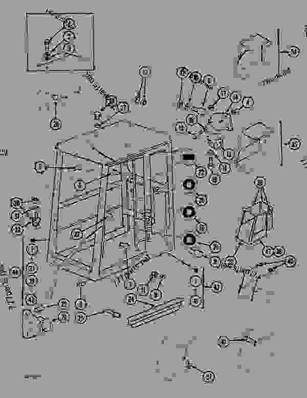 Parts scheme CAB - STANARD - CRAWLER DOZERS Case 1088CK - CASE HYDRAULIC CRAWLER EXCAVATOR (S/N 17001 & AFTER) (1/89-12/92) 05.1 UPPERSTRUCTURE CHASSIS/ATTACHMENTS CAB - STANARD | 777parts