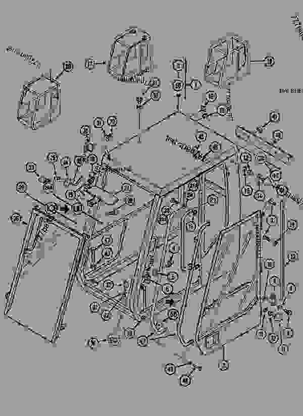 Parts scheme CAB ROOF, STANDARD - CRAWLER EXCAVATORS Case 1288CK - CASE CRAWLER EXCAVATOR (S/N CGG0023701 & AFTER) (9/91-12/01) 09 CHASSIS CAB ROOF, STANDARD | 777parts