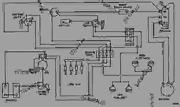 wiring diagram - track-type tractor caterpillar d4d   power shift    22c00001