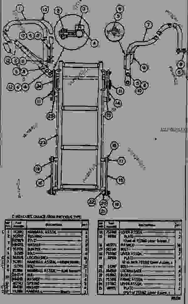 Parts scheme 8S0963 LADDER AND GRAB IRON GROUP  - EARTHMOVING COMPACTOR Caterpillar 825B - 825B COMPACTOR 43N00001-00493 (MACHINE) TRANSMISSION AND CHASSIS | 777parts