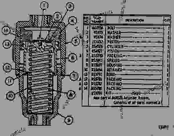 Parts scheme 8S4521 BRAKE ADJUSTER ASSEMBLY  - EARTHMOVING COMPACTOR Caterpillar 825B - 825B COMPACTOR 43N00001-00493 (MACHINE) TRANSMISSION AND CHASSIS | 777parts