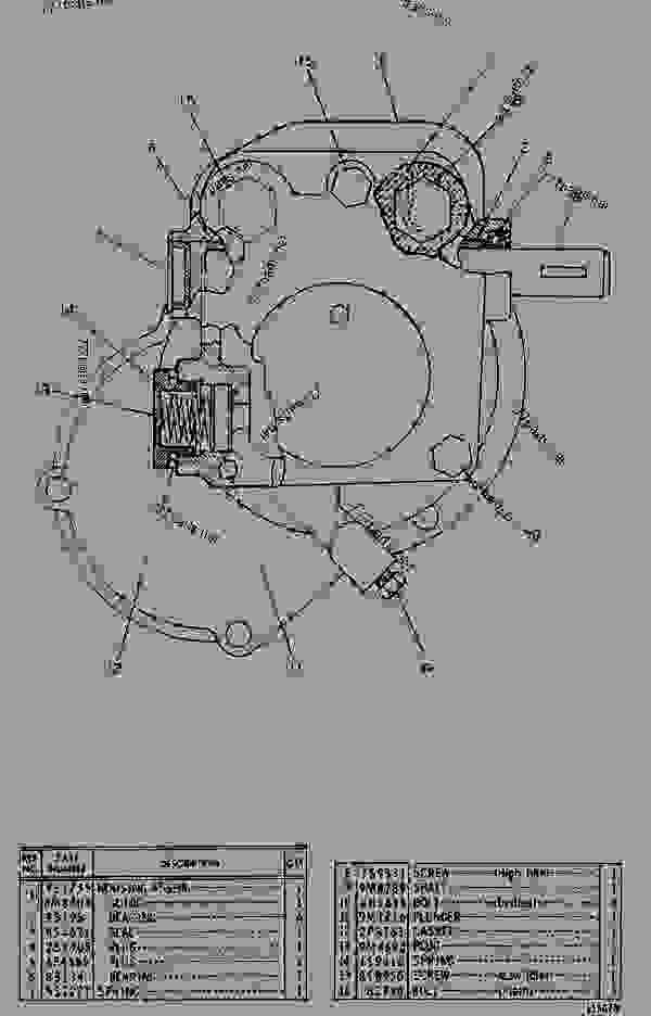 Parts scheme 7S9333 GOVERNOR GROUP   - EARTHMOVING COMPACTOR Caterpillar 816 - 3306 VEHICULAR ENGINE 57U00351-UP (MACHINE) FUEL SYSTEM AND GOVERNOR | 777parts