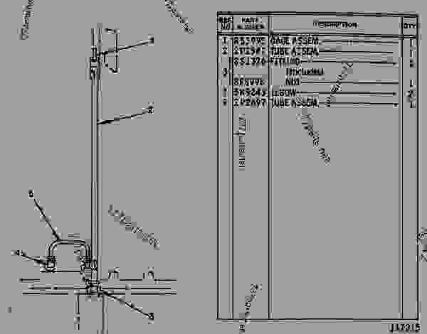 Parts scheme 2P6493 GAUGE GROUP-OIL LEVEL (DIPSTICK)  -ENGINE - EARTHMOVING COMPACTOR Caterpillar 815 - 3306 VEHICULAR ENGINE 91P00153-01101 (MACHINE) LOWER STRUCTURE | 777parts
