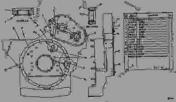 Parts scheme 2P6122 HOUSING GROUP-FLYWHEEL FLYWHEEL HOUSING GROUP - EARTHMOVING COMPACTOR Caterpillar 816 - 3306 VEHICULAR ENGINE 57U00351-UP (MACHINE) REAR STRUCTURE | 777parts