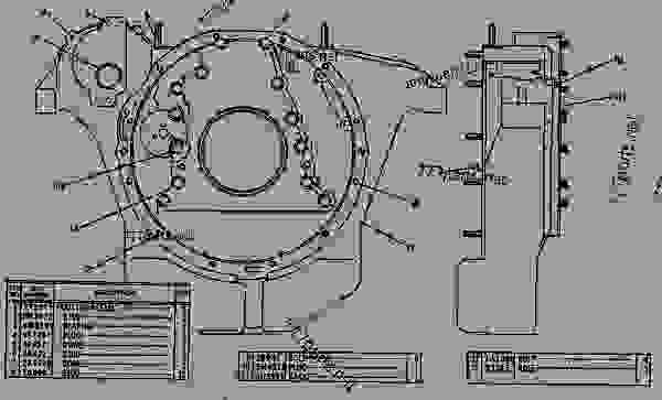 Parts scheme 2P6156 HOUSING GROUP-FLYWHEEL Flywheel Housing Group - EARTHMOVING COMPACTOR Caterpillar 816 - 3306 VEHICULAR ENGINE 57U00351-UP (MACHINE) REAR STRUCTURE | 777parts