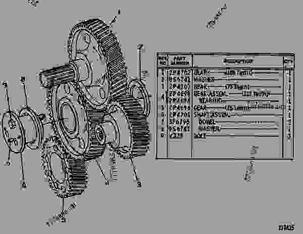 Parts scheme 2P8621 GEAR GROUP-REAR REAR GEAR GROUP-ACCESSORY DRIVE - EARTHMOVING COMPACTOR Caterpillar 815 - 3306 VEHICULAR ENGINE 91P00153-01101 (MACHINE) REAR STRUCTURE | 777parts