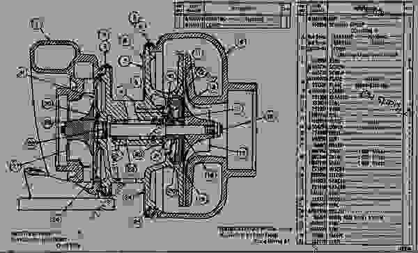 3s4421 turbocharger assembly engine marine caterpillar d333b rh 777parts net Cat Engine Schematic Diesel Engine Oil Diagram