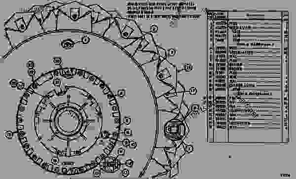 Parts scheme 8S9632 WHEEL AND BRAKE GROUP  - EARTHMOVING COMPACTOR Caterpillar 825B - 825B COMPACTOR 43N00001-00493 (MACHINE) TRANSMISSION AND CHASSIS | 777parts