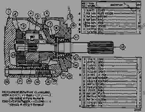 Parts scheme 7J0597 PUMP GROUP-VANE  - EARTHMOVING COMPACTOR Caterpillar 826B - 824 & 834 TRACTORS 824B, 825B, 834 & 835 COMPACTORS 826B LAN 90K00001-UP 824, 825, 826, 834 & 835 BULLDOZERS | 777parts