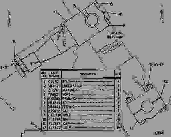 Parts scheme 7J6779 MOUNTING GROUP-LIFT CYLINDER   - EARTHMOVING COMPACTOR Caterpillar 816 - 814S, 815 & 816 BULLDOZERS 51K00001-UP 814S, 815 & 816 BULLDOZERS | 777parts