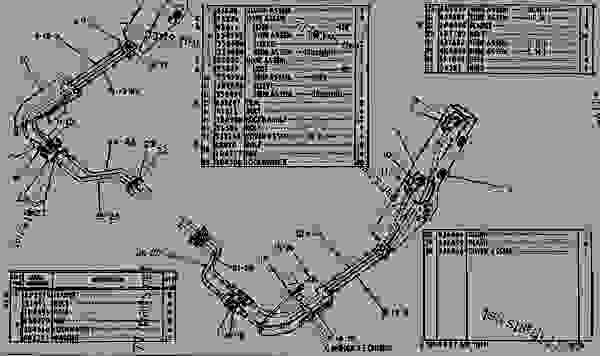 Parts scheme 5J3623 HYDRAULIC LINES GROUP  - EARTHMOVING COMPACTOR Caterpillar 825 - 824 & 834 TRACTORS 824B, 825B, 834 & 835 COMPACTORS 826B LAN 93G00001-UP 824, 825, 826, 834 & 835 BULLDOZERS | 777parts