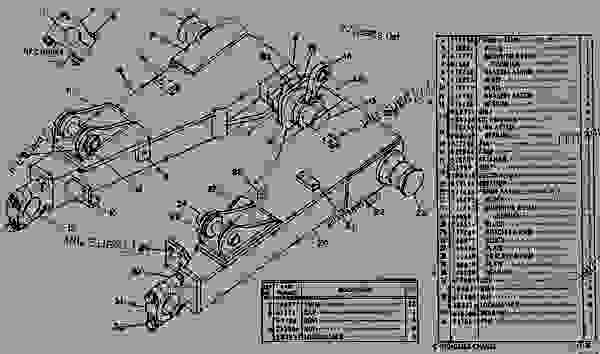 Parts scheme 7J7330 PUSH FRAME AND BRACE GROUP  - EARTHMOVING COMPACTOR Caterpillar 815 - 814S AND 815 BULLDOZERS 59E00001-UP BULLDOZER | 777parts