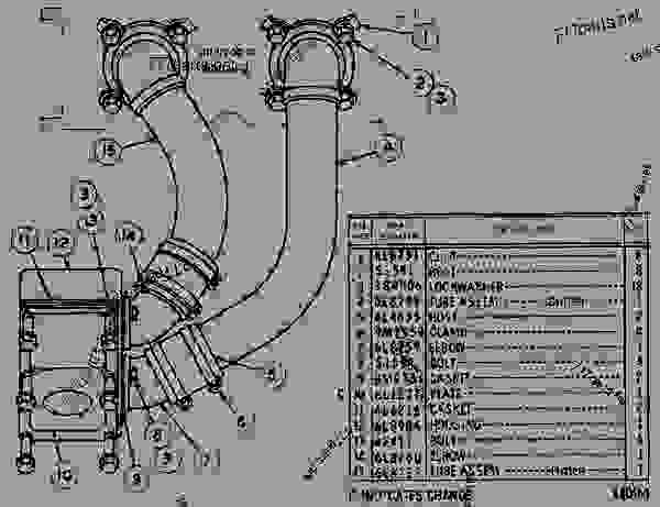 Parts scheme 6L8992 AFTERCOOLER CONNECTIONS  - ENGINE - INDUSTRIAL Caterpillar D398 - D398 ENGINE 75B00001-UP DIESEL ENGINE | 777parts