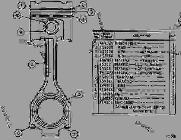 Parts scheme 4N4028 PISTON & ROD GROUP CONNECTING ROD AND PISTON GROUP - EARTHMOVING COMPACTOR Caterpillar 816 - 3306 VEHICULAR ENGINE 57U00351-UP (MACHINE) CENTRAL STRUCTURE | 777parts