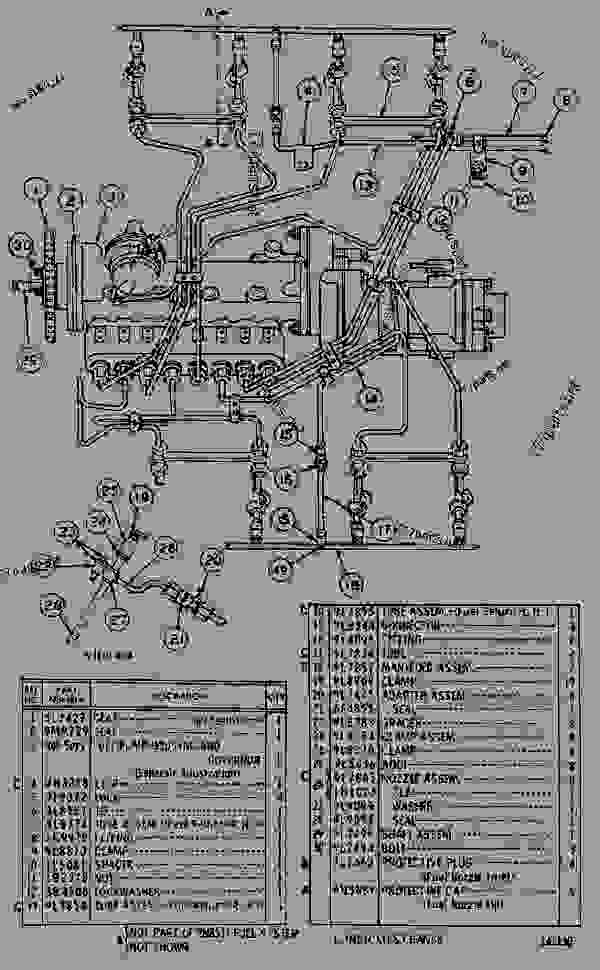 Parts scheme 2N8511 FUEL SYSTEM  - ENGINE - MACHINE Caterpillar 3160 - 3160 ENGINE 98M00001-UP DIESEL ENGINE | 777parts
