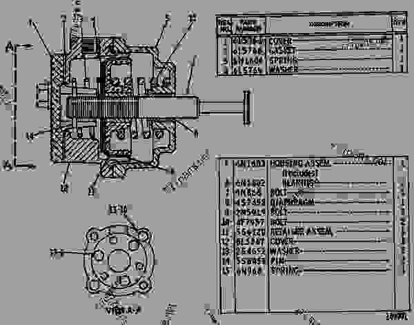 Parts scheme 9N0867 CONTROL GROUP-FUEL RATIO  - EARTHMOVING COMPACTOR Caterpillar 816 - 3306 VEHICULAR ENGINE 57U00351-UP (MACHINE) FUEL SYSTEM AND GOVERNOR | 777parts