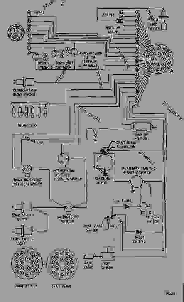 wiring diagram - wheel tractor-scraper caterpillar 627b