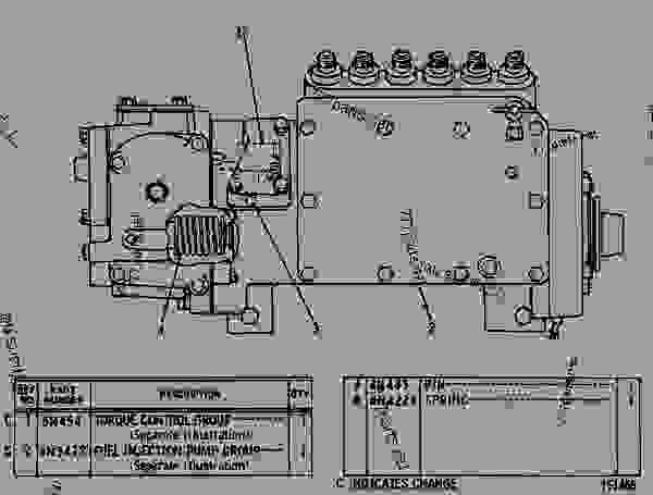 Parts scheme 6N0294 GOV & FUEL INJ PUMP GROUP GOVERNOR AND FUEL INJECTION PUMP GROUP - EARTHMOVING COMPACTOR Caterpillar 815 - 3306 VEHICULAR ENGINE 91P00153-01101 (MACHINE) FUEL SYSTEM AND GOVERNOR | 777parts