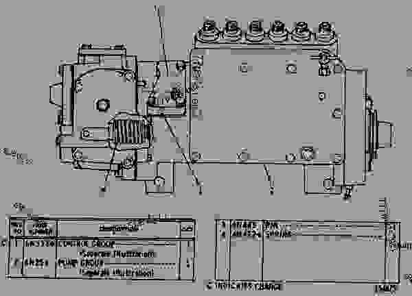 Parts scheme 6N0297 GOVERNOR AND FUEL INJECTION PUMP GROUP  - EARTHMOVING COMPACTOR Caterpillar 816 - 3306 VEHICULAR ENGINE 57U00351-UP (MACHINE) FUEL SYSTEM AND GOVERNOR | 777parts