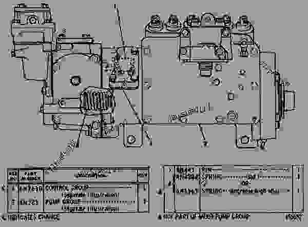 Parts scheme 6N0303 GOVERNOR AND FUEL INJECTION PUMP GROUP  - EARTHMOVING COMPACTOR Caterpillar 815 - 3306 VEHICULAR ENGINE 91P00153-01101 (MACHINE) FUEL SYSTEM AND GOVERNOR | 777parts
