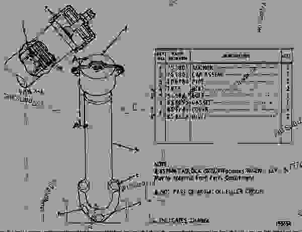 Parts scheme 4N5141  OIL FILLER GROUP  - EARTHMOVING COMPACTOR Caterpillar 815 - 3306 VEHICULAR ENGINE 91P00153-01101 (MACHINE) LUBRICATION SYSTEM | 777parts