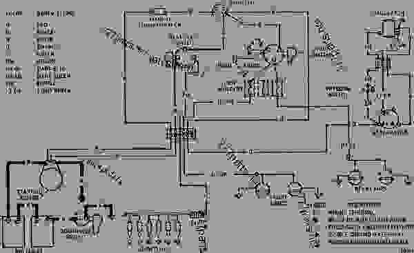 wiring diagram - track-type tractor caterpillar d6c