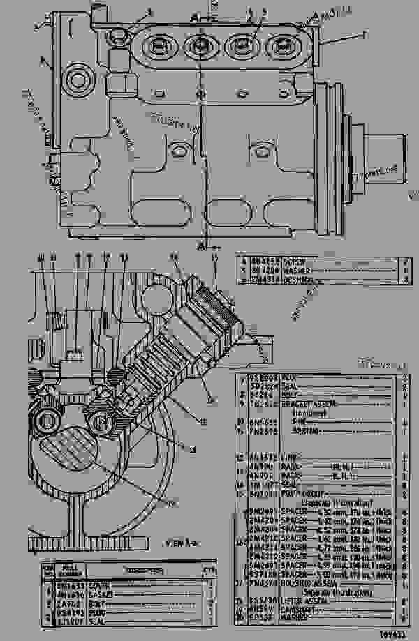 Parts scheme 9N3326 PUMP GROUP-FUEL INJECTION  - OFF-HIGHWAY TRUCK Caterpillar 768C - 768C TRACTOR 02X00001-00349 (MACHINE) POWERED BY 3408 ENGINE FUEL SYSTEM AND GOVERNOR | 777parts