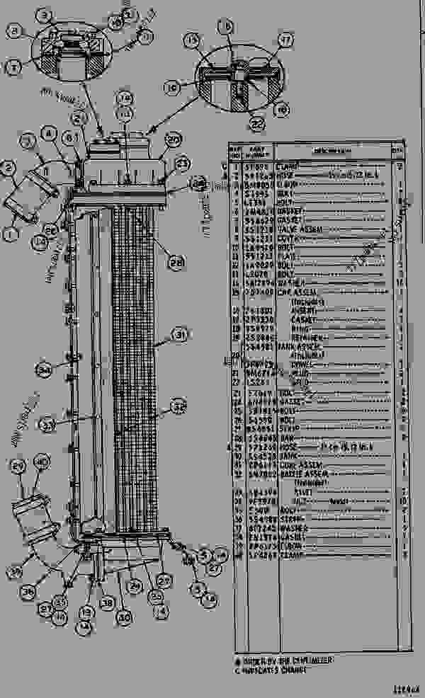 Parts scheme 2P8204 RADIATOR GROUP  - EARTHMOVING COMPACTOR Caterpillar 815 - 815 COMPACTOR 15R00408-UP (MACHINE) POWERED BY 3306 ENGINE COOLING SYSTEM | 777parts
