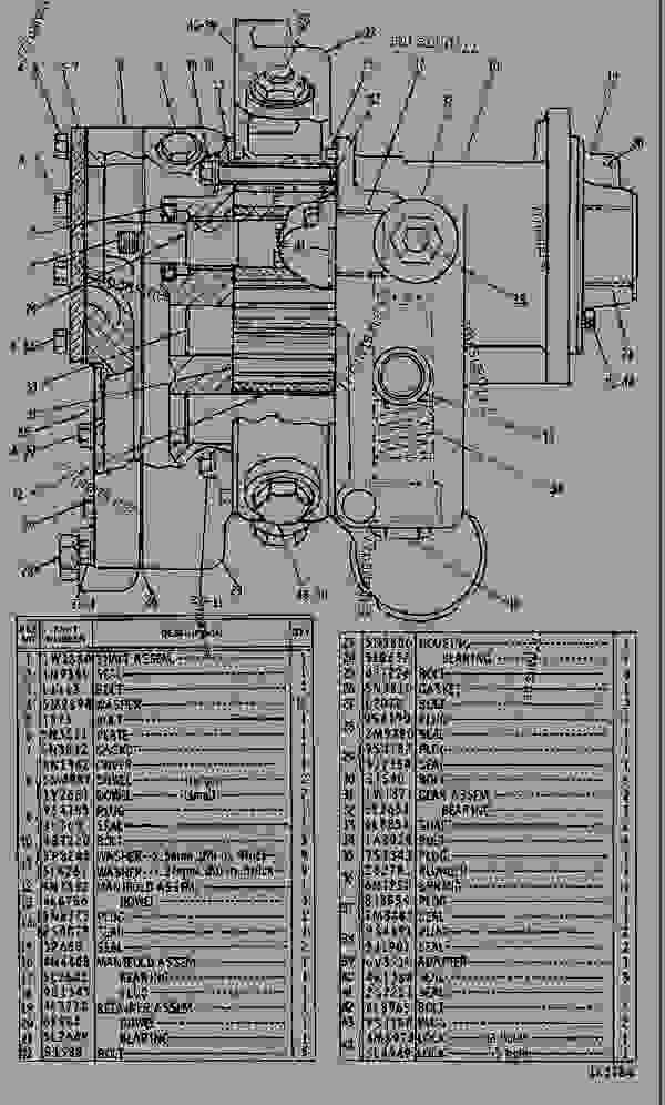 Parts scheme 5N7894 PUMP GROUP-ENGINE OIL  - ENGINE - INDUSTRIAL Caterpillar D398 - D398B ENGINE - ENGINES IN GENERAL ELECTRIC LOCOMOTIVES FOR T 66B00001-UP D398B ENGINE | 777parts