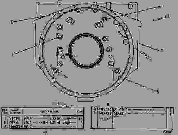 Parts scheme 4N6055 HOUSING GROUP-FLYWHEEL FLYWHEEL HOUSING GROUP - EARTHMOVING COMPACTOR Caterpillar 815 - 3306 VEHICULAR ENGINE 91P00153-01101 (MACHINE) REAR STRUCTURE | 777parts