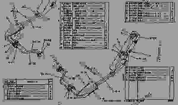 Parts scheme 5J3623 HYDRAULIC LINES GROUP  - EARTHMOVING COMPACTOR Caterpillar 826B - 824 & 834 TRACTORS 824B, 825B, 834 & 835 COMPACTORS 826B LAN 90K00001-UP 824, 825, 826, 834 & 835 BULLDOZERS | 777parts