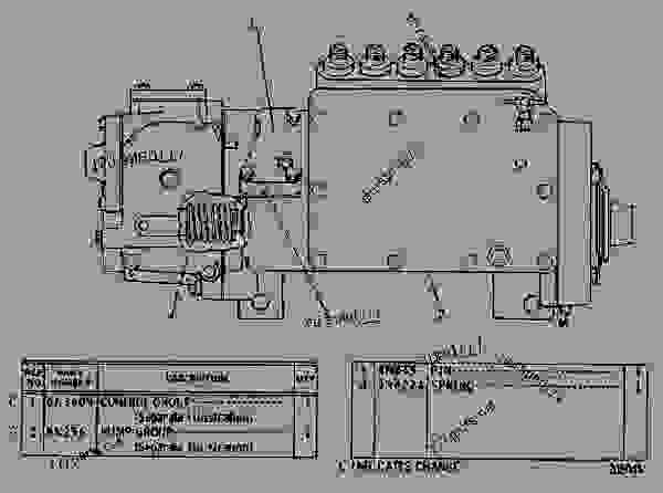 Parts scheme 6N0297 GOVERNOR AND FUEL INJECTION PUMP GROUP  - EARTHMOVING COMPACTOR Caterpillar 815 - 3306 VEHICULAR ENGINE 91P00153-01101 (MACHINE) FUEL SYSTEM AND GOVERNOR | 777parts