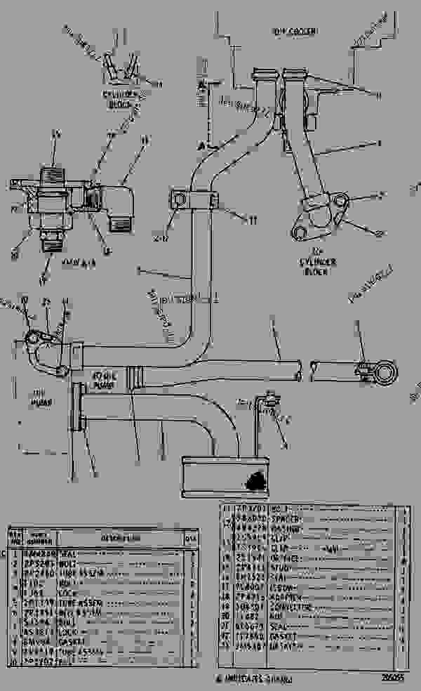 Parts scheme 4N9718 LINES GROUP-ENGINE OIL  - EARTHMOVING COMPACTOR Caterpillar 815 - 3306 VEHICULAR ENGINE 91P00153-01101 (MACHINE) LUBRICATION SYSTEM | 777parts