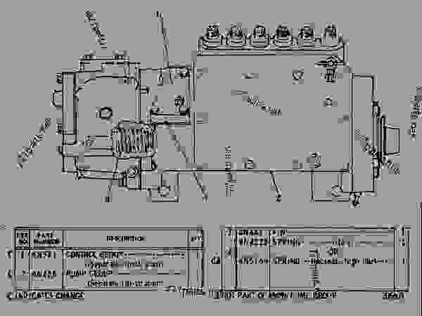 Parts scheme 6N0296 GOVERNOR AND FUEL INJECTION PUMP GROUP  - EARTHMOVING COMPACTOR Caterpillar 815 - 3306 VEHICULAR ENGINE 91P00153-01101 (MACHINE) FUEL SYSTEM AND GOVERNOR | 777parts