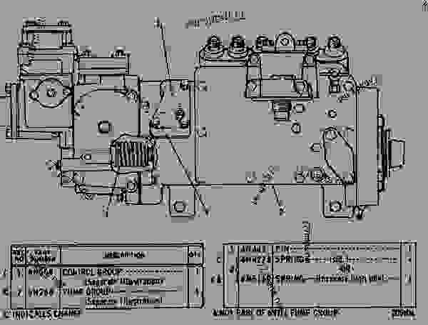 Parts scheme 6N0311 GOVERNOR AND FUEL INJECTION PUMP GROUP  - EARTHMOVING COMPACTOR Caterpillar 816 - 3306 VEHICULAR ENGINE 57U00351-UP (MACHINE) FUEL SYSTEM AND GOVERNOR | 777parts