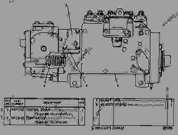 Parts scheme 6N0304 GOVERNOR AND FUEL INJECTION PUMP GROUP  - EARTHMOVING COMPACTOR Caterpillar 815 - 3306 VEHICULAR ENGINE 91P00153-01101 (MACHINE) FUEL SYSTEM AND GOVERNOR | 777parts