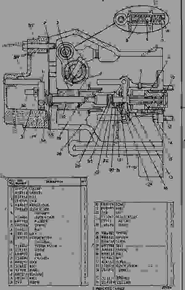 Parts scheme 7S9333 GOVERNOR GROUP   - EARTHMOVING COMPACTOR Caterpillar 815 - 3306 VEHICULAR ENGINE 91P00153-01101 (MACHINE) FUEL SYSTEM AND GOVERNOR | 777parts
