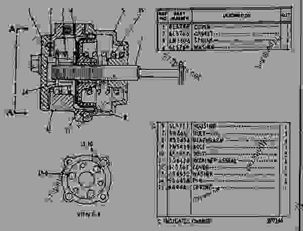 Parts scheme 4N4900 FUEL RATIO CONTROL GROUP  - EARTHMOVING COMPACTOR Caterpillar 815 - 3306 VEHICULAR ENGINE 91P00153-01101 (MACHINE) FUEL SYSTEM AND GOVERNOR | 777parts