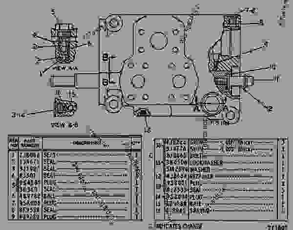 Parts scheme 9J8107 VALVE GROUP  - EARTHMOVING COMPACTOR Caterpillar 815 - 815 COMPACTOR 15R00408-UP (MACHINE) POWERED BY 3306 ENGINE STEERING AND BRAKING SYSTEM | 777parts