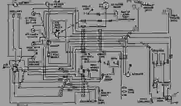 wiring diagram - engine - machine caterpillar d343
