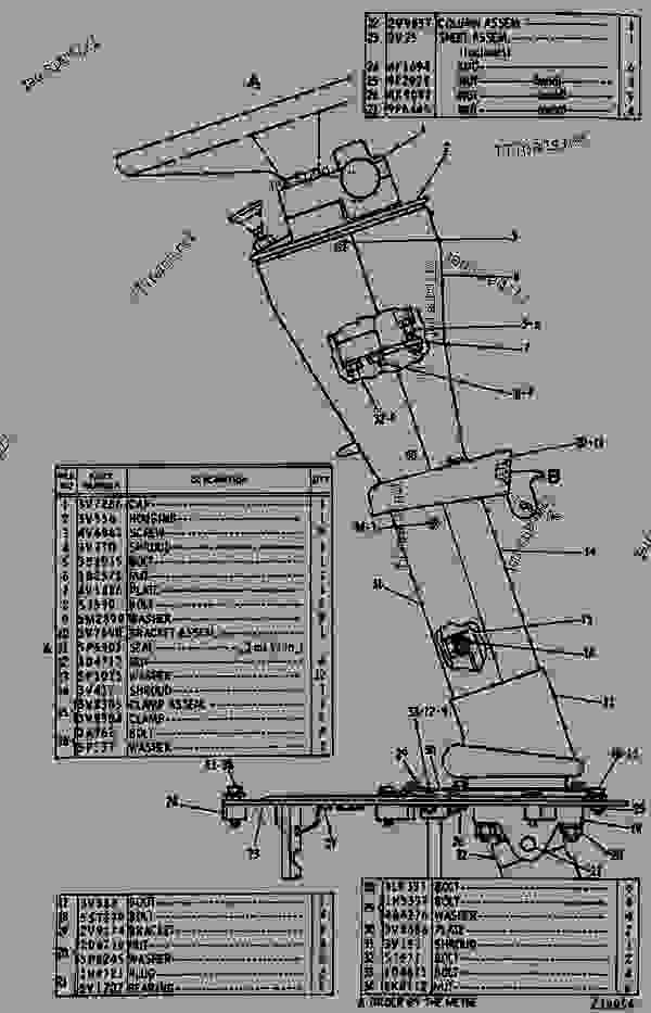 Parts scheme 3V0380 COLUMN GROUP-STEERING-ADJUSTABLE   - EARTHMOVING COMPACTOR Caterpillar 825C - 825C COMPACTOR 86X00001-00730 (MACHINE) POWERED BY 3406 ENGINE STEERING AND BRAKING SYSTEM | 777parts