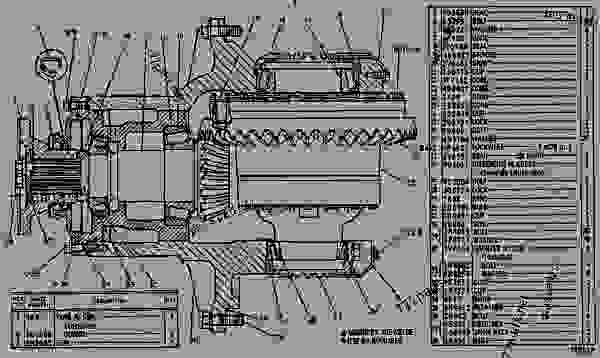 Parts scheme 3V6592 DIFFERENTIAL & BEVEL GEAR GROUP   - EARTHMOVING COMPACTOR Caterpillar 825 - 825C COMPACTOR 86X00001-00730 (MACHINE) POWERED BY 3406 ENGINE POWER TRAIN-POWER TRANSMISSION UNIT | 777parts