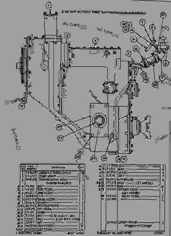 Parts scheme 8P4253 POWERSHIFT TRANSMISSION ARRANGEMENT  - EARTHMOVING COMPACTOR Caterpillar 815 - 815 COMPACTOR 15R00408-UP (MACHINE) POWERED BY 3306 ENGINE POWER TRAIN--POWER TRANSMISSION | 777parts