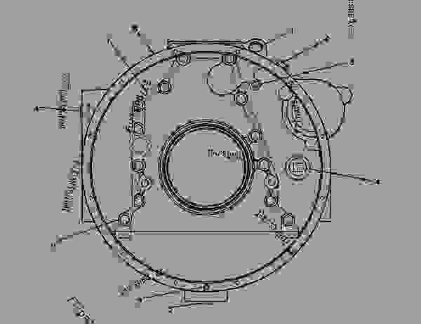 Parts scheme 8N2395 HOUSING GROUP-FLYWHEEL FLYWHEEL HOUSING GROUP - ENGINE - GENERATOR SET Caterpillar 3304B - 3304 GENERATOR SET ENGINE 83Z00001-03095 BASIC ENGINE | 777parts