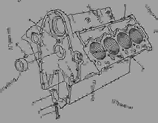 Parts scheme 9N3761 CYLINDER BLOCK GROUP CYLINDER BLOCK GROUP - ENGINE - GENERATOR SET Caterpillar 3208 - 3208 GENERATOR SET ENGINE 29A00225-UP BASIC ENGINE | 777parts