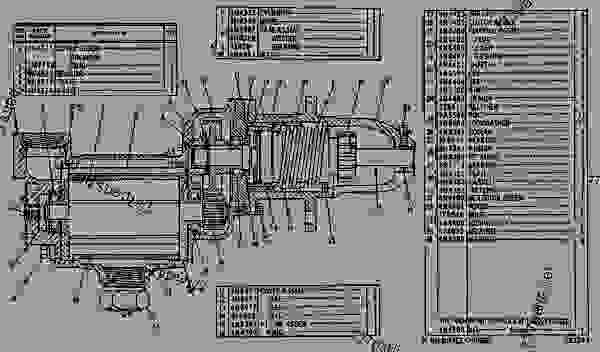 Parts scheme 6N6002 AIR STARTING MOTOR GROUP--R.H.  - ENGINE - INDUSTRIAL Caterpillar G353D - G353 ENGINE 64B00001-UP ATTACHMENTS | 777parts