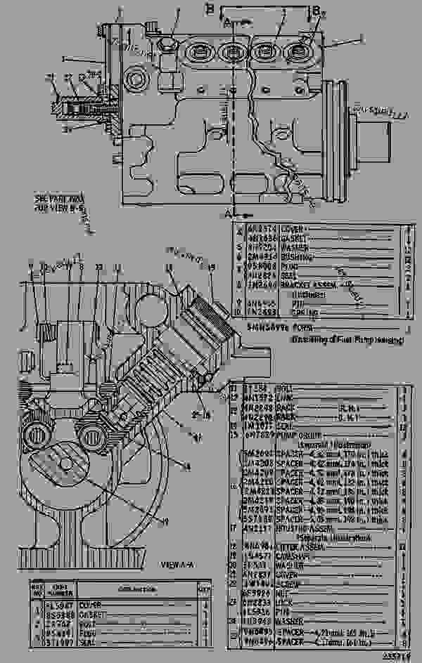 Parts scheme 1W2192 PUMP GROUP-FUEL INJECTION  - ENGINE - GENERATOR SET Caterpillar 3412 - 3412 ENGINE GENERATOR SET 81Z00001-04999 FUEL SYSTEM AND GOVERNOR | 777parts