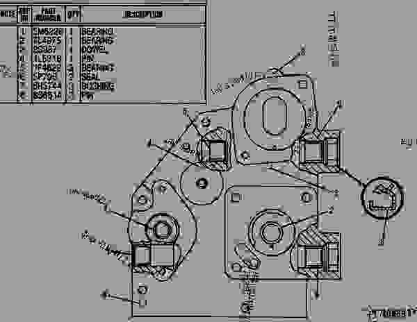 Parts scheme 8N3224 HOUSING AS-GOVERNOR DRIVE   - ENGINE - GENERATOR SET Caterpillar 3304B - 3304 GENERATOR SET ENGINE 83Z00001-03095 FUEL SYSTEM AND GOVERNOR | 777parts