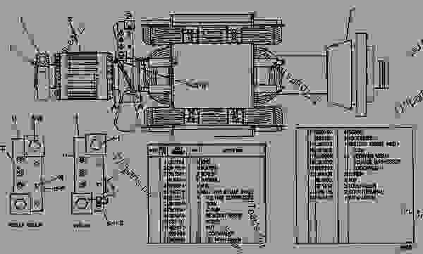 Parts scheme 5N8798 ROTOR AS  - ENGINE - GENERATOR SET Caterpillar 3406 - 3406 GENERATOR SET ENGINE 75Z00001-UP GENERATORS | 777parts